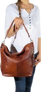 Brązowa torebka TrendyTorebki w stylu boho ze skóry