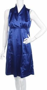 Niebieska sukienka St-Martins z dekoltem w kształcie litery v kopertowa mini