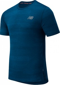 T-shirt New Balance z żakardu w sportowym stylu