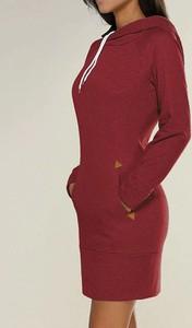 Sukienka Sandbella z długim rękawem z dresówki w stylu casual