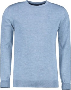 Niebieski sweter Lavard z wełny w stylu casual