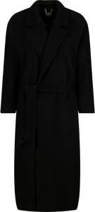 Czarny płaszcz Elisabetta Franchi z wełny