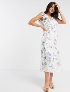 Sukienka River Island midi z dekoltem w kształcie litery v