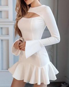 Sukienka Kendallme w stylu casual z bawełny z długim rękawem