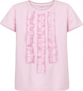 Różowa bluzka dziecięca Endo z krótkim rękawem