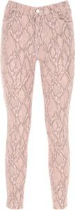 Różowe jeansy J Brand w street stylu z bawełny