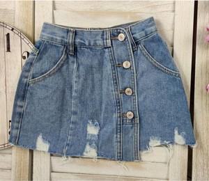 Granatowa spódniczka dziewczęca Petit Boutique - Moda Dziecięca z jeansu