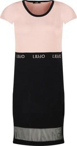 Sukienka Liu-Jo z krótkim rękawem z okrągłym dekoltem prosta