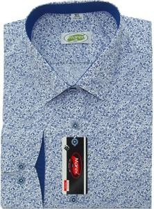 Niebieska koszula Marex Łódź z długim rękawem w młodzieżowym stylu