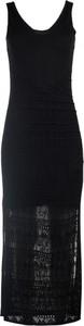 Czarna sukienka Timeout z okrągłym dekoltem