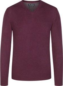 Fioletowy sweter Tom Rusborg z wełny