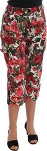 Czerwone spodnie Dolce & Gabbana w stylu boho