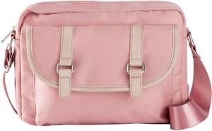 Różowa torebka bonprix ze skóry