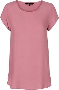 Różowa bluzka Vero Moda w stylu casual