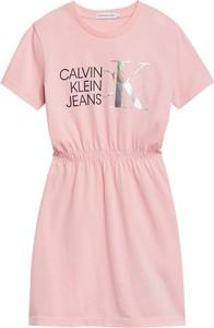 Sukienka dziewczęca Calvin Klein z bawełny