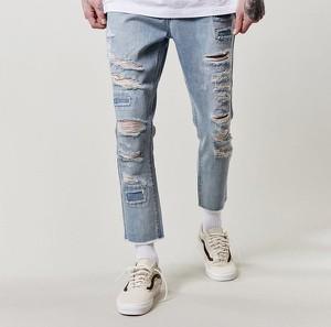 Niebieskie jeansy Cayler & Sons w młodzieżowym stylu