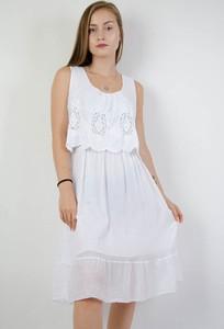 Sukienka Olika z okrągłym dekoltem midi w stylu boho