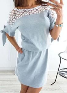 Niebieska sukienka Arilook mini
