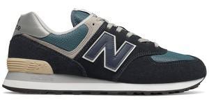 Buty sportowe New Balance sznurowane 574 z zamszu