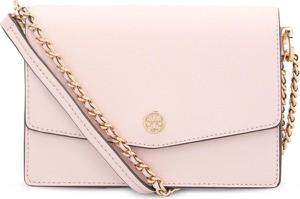 Różowa torebka Tory Burch ze skóry na ramię