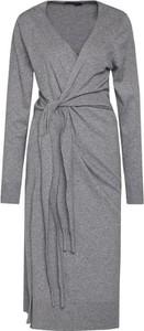 Sukienka Trussardi Jeans kopertowa z dekoltem w kształcie litery v