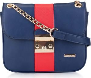Niebieska torebka Wittchen w stylu casual na ramię