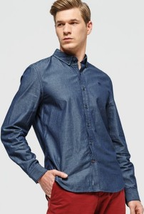 Koszula Timberland z kołnierzykiem button down