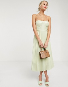 Sukienka Simonett na ramiączkach gorsetowa