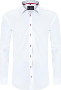 Koszula Di Selentino z długim rękawem z tkaniny z kołnierzykiem button down