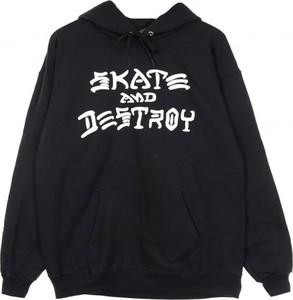 Czarna bluza Thrasher w młodzieżowym stylu