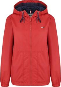 Czerwona kurtka Tommy Jeans krótka w stylu casual