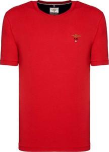 Czerwony t-shirt Aeronautica Militare