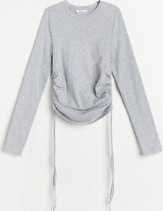 Bluzka Reserved z okrągłym dekoltem w stylu casual