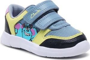 Buty sportowe dziecięce Clarks dla dziewczynek na rzepy