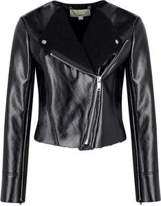 Czarna kurtka Michael Kors w rockowym stylu