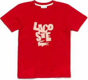 Koszulka dziecięca Lacoste z bawełny