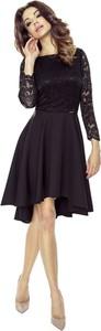 Sukienka Bergamo z okrągłym dekoltem rozkloszowana
