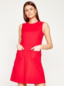 Sukienka Red Valentino bez rękawów z okrągłym dekoltem rozkloszowana