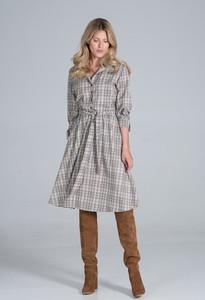 Sukienka Figl w stylu casual z długim rękawem midi