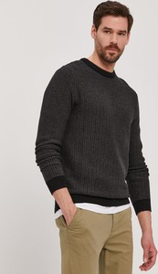 Czarny sweter Selected w stylu casual z okrągłym dekoltem
