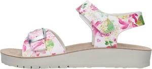 Buty dziecięce letnie Geox dla dziewczynek ze skóry