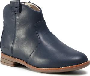 Granatowe buty dziecięce zimowe Clarks