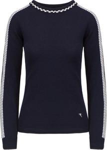 Granatowy sweter Chervo w stylu casual
