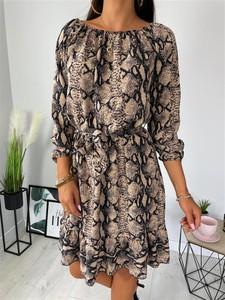 Sukienka ModnaKiecka.pl w stylu casual mini z długim rękawem