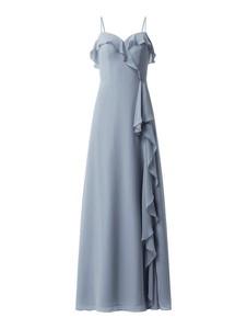 Niebieska sukienka Luxuar Fashion z dekoltem w kształcie litery v bez rękawów