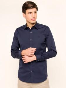 Granatowa koszula Lacoste z długim rękawem