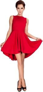 Czerwona sukienka Coco Style midi bez rękawów
