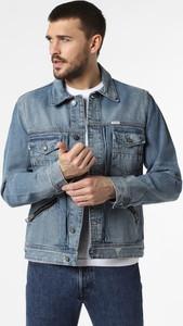Niebieska kurtka Guess z jeansu w stylu casual