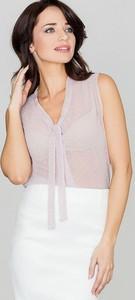 Bluzka LENITIF z tkaniny z dekoltem w kształcie litery v
