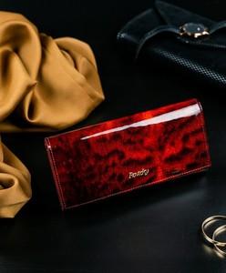 Czerwony portfel Rovicky w stylu glamour ze skóry